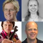 Stephany de Maaijer, Maria Rosendal, Sigrid Hendrikse en Hinne Reitsma